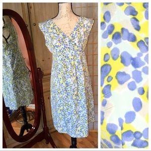 Gap Maternity Dress Sleeveless Blue Green sz XS